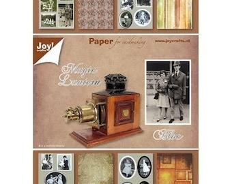 Bloc de 32 papiers 15 x 21 cm JOY CRAFTS MAGIC LANTERN.