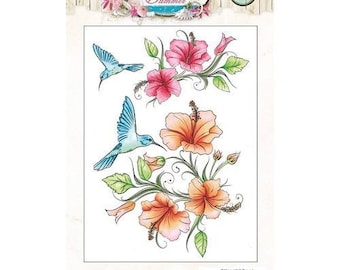 Clear stamps scrapbooking Studio light ROMANTIC SUMMER transparent