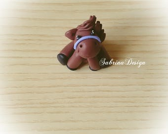 Horse favor, polymer clay horse, baptism favors, baby shower favors, birthday animals ,animals farm favors