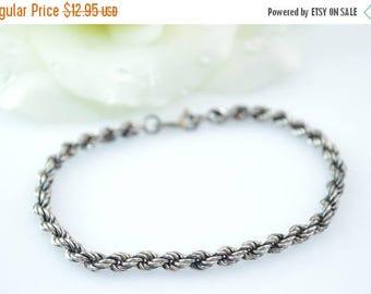 HUGE Sale Rope Chain Bracelet Sterling Silver 4.3g
