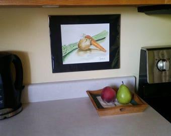 Vegetable sketch art - Mirepoix Original