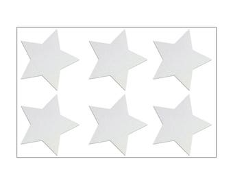 6 reflector stars, reflective Sticker Set for bicycle, helmet, baby stroller, buggy, walker, 6 safety stickers, 3M Scotchlite, 6 Stars