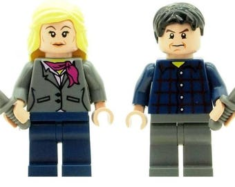 Fear The Walking Dead Madison and Travis Minifiguresz handmade from LEGO Parts
