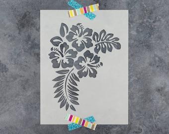 Hibiscus Stencil - Reusable Hibiscus Flower Stencil Pattern