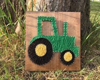 String Art Tractor, Nursery Wall Art, Nursery Decor, Farmhouse Decor, Farmhouse Wall Decor, Gift for Farmer, Rustic Wall Art, Baby Shower