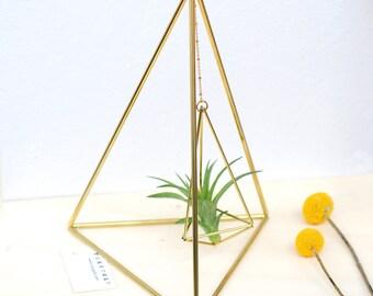 Himmeli Tetrahedron Nr02 Halterung für Luftpflanzen Geschenkidee Deko Idee Pflanzenhalter Geometrisch Tillandsia Pflanzenhänger