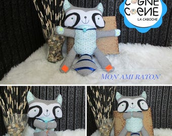 Awakening plush raccoon friend