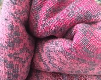 Handwoven Doubleweave Baby Wrap - Pinkster, Cotton/Merino