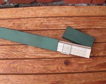 Old soviet logarithmic ruler in original case Wooden ruler Old measuring tool Soviet engineering rule Slide ruler Gift for him Office decor
