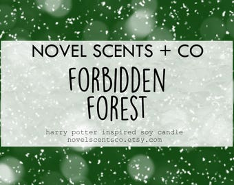 Forbidden Forest- Harry Potter inspired soy candle (6oz tin)