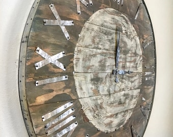 farmhouse oversized clock industrial clock shiplap clock oversized rustic clock large clock