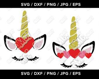 Unicorn Eyelash Kids Valentine SVG svg dxf eps jpeg png format layered cutting files clipart die cut decal vinyl cutter cricut silhouette