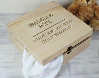 Personalised wooden keepsake box, baby gift, mothers day gift, wedding gift, fathers day gift, personalised engraved gift, christening gift