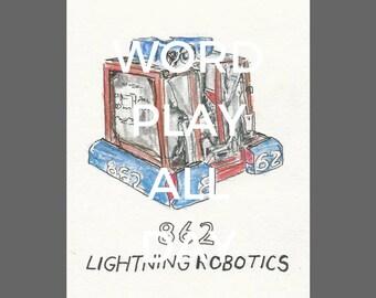 862 Lightning Robotics Drawing - IRI Auction Drawing Scan