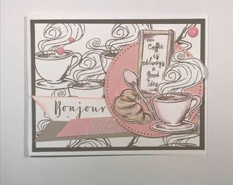 Bonjour - Set of 3 cards (Envelopes Included)