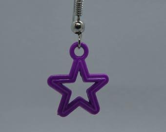Earrings Purple Star