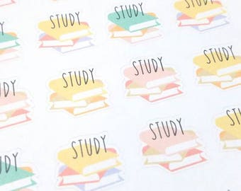 SALE! Study planner stickers - Erin Condren - Happy Planner - school - books - Christmas Gift