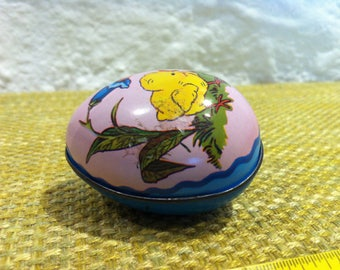 Vintage Litho, egg, lithographed Tin toys, can you open the sheet metal egg