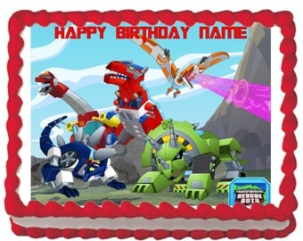 Transformers Rescue Bots Edible Image Decoration Cake Topper