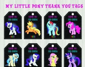 My Little Pony Thank You Tags My Little Pony Gift Tags My Little Pony Tags My Little Pony Birthday Tags