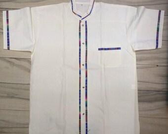 Mexican guayabera, manta shirt, Oxford shirt, Mexican shirt, Oaxaca man shirt, men's shirt, Mexican men's shirt, plus size shirt