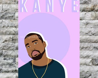 kanye west print simplistic // minimalist yeezy print // life of pablo poster // kardashian jenner west family merch