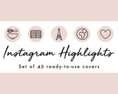 Instagram Story Highlight Icons - 45 Nude Pink Covers | Fashion, Beauty, Lifestyle, Decor, Craft, Handmade, Bloggers, Influencers