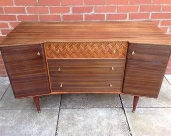 Restored Uniflex dresser /mid century modern/retro/original/teak