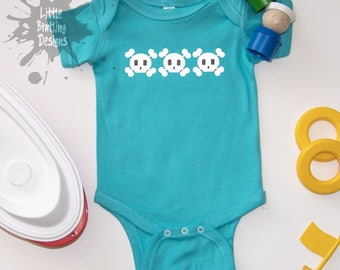 Skull Row Short Sleeve Bodysuit