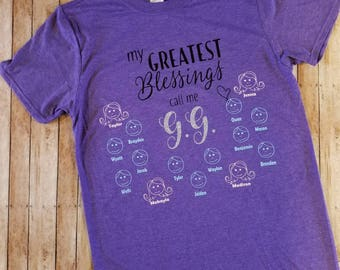 My greatest blessings call me GRANDMA!! Personalized and custom made! Great gift for Mother's Day! Grandparent's Day! Christmas GIFT!!