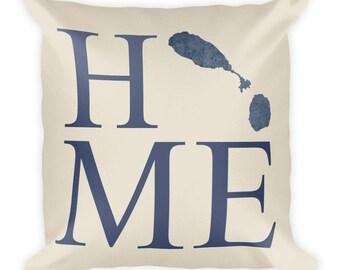 St. Kitts Pillow, Saint Kitts Gifts, St. Kitts Decor, St. Kitts Home, St. Kitts Throw Pillow, St. Kitts Art, St. Kitts Map, Kitts Cushion