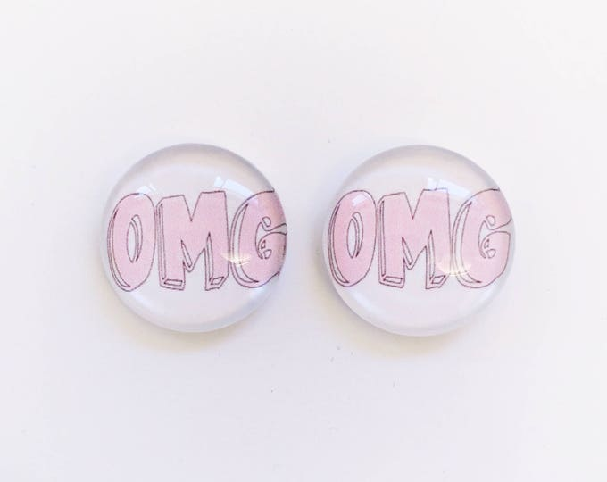 The 'OMG' Glass Earring Studs