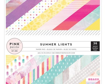 "Summer Lights 6X6"" Paper pad - Pink Paislee"