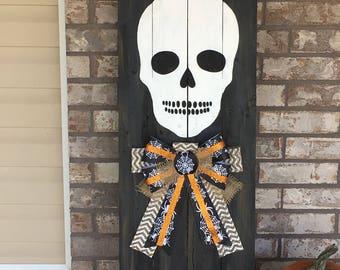 Skull Halloween Sign