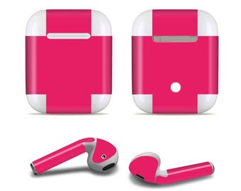 Apple custom made Pink Airpod Skins Decals for Apple Airpods Protective Wraps