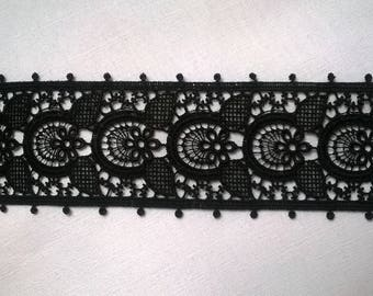Ribbon lace black 45 MM polyester