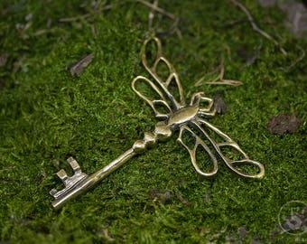 Bronze Dragonfly Key, handmade 6,5cm high quality