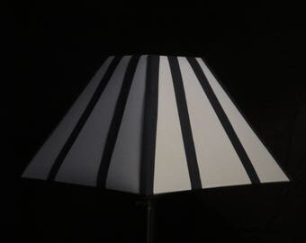 Lampshade 30 cm pyramid striped Navy Blue and white