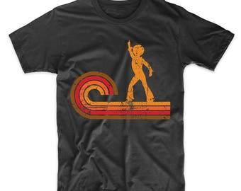 Retro Style Disco Dancer Silhouette Disco T-Shirt