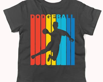 Retro 1970's Style Dodgeball Player Silhouette Infant / Toddler T-Shirt