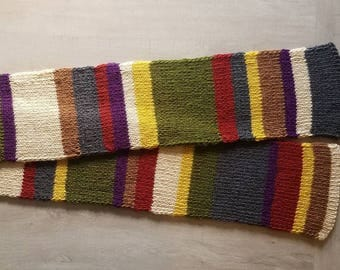 Doctor Who Scarf Worn By Fourth Doctor Tom Baker 70 Inch Wearable Length