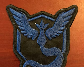 Pokemon Go Team Mystic Embroidered Patch