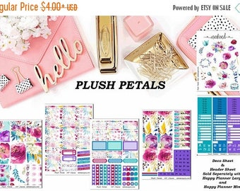 30% Off Sale Plush Petals, 6 sheet weekly kit//EC//Hp classic, large mini