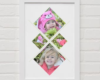 ARTISTIC diamond collage Print with your OWN pictures and FREE Shipping
