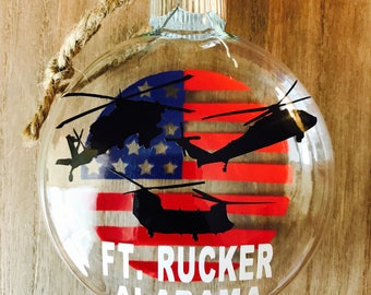 Large Army Aviation Ornament