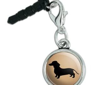 Dachshund Wiener Dog Mobile Cell Phone Headphone Jack Anti-Dust Charm fits iPhone iPod Galaxy