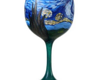 Wine Glass Starry Night