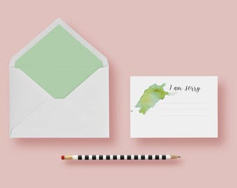 I am sorry gift watercolor handmade card sorry card for him her apology card greeting card art lover sympathy artist sorry Sentiment Card