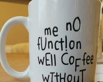 Funny Coffee Mug Etsy Uk