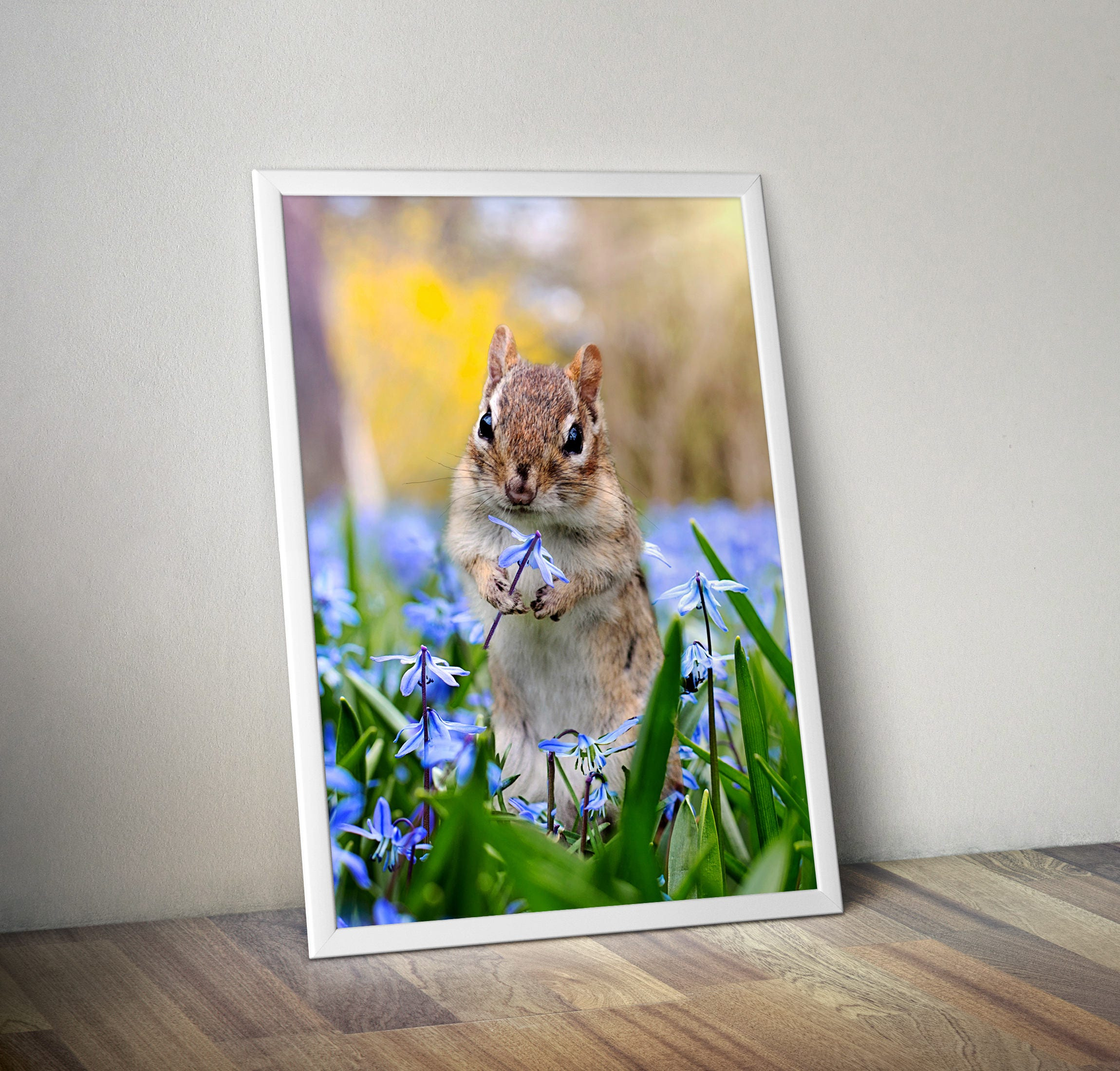 squirrel print gift for her cute animal print nursery art
